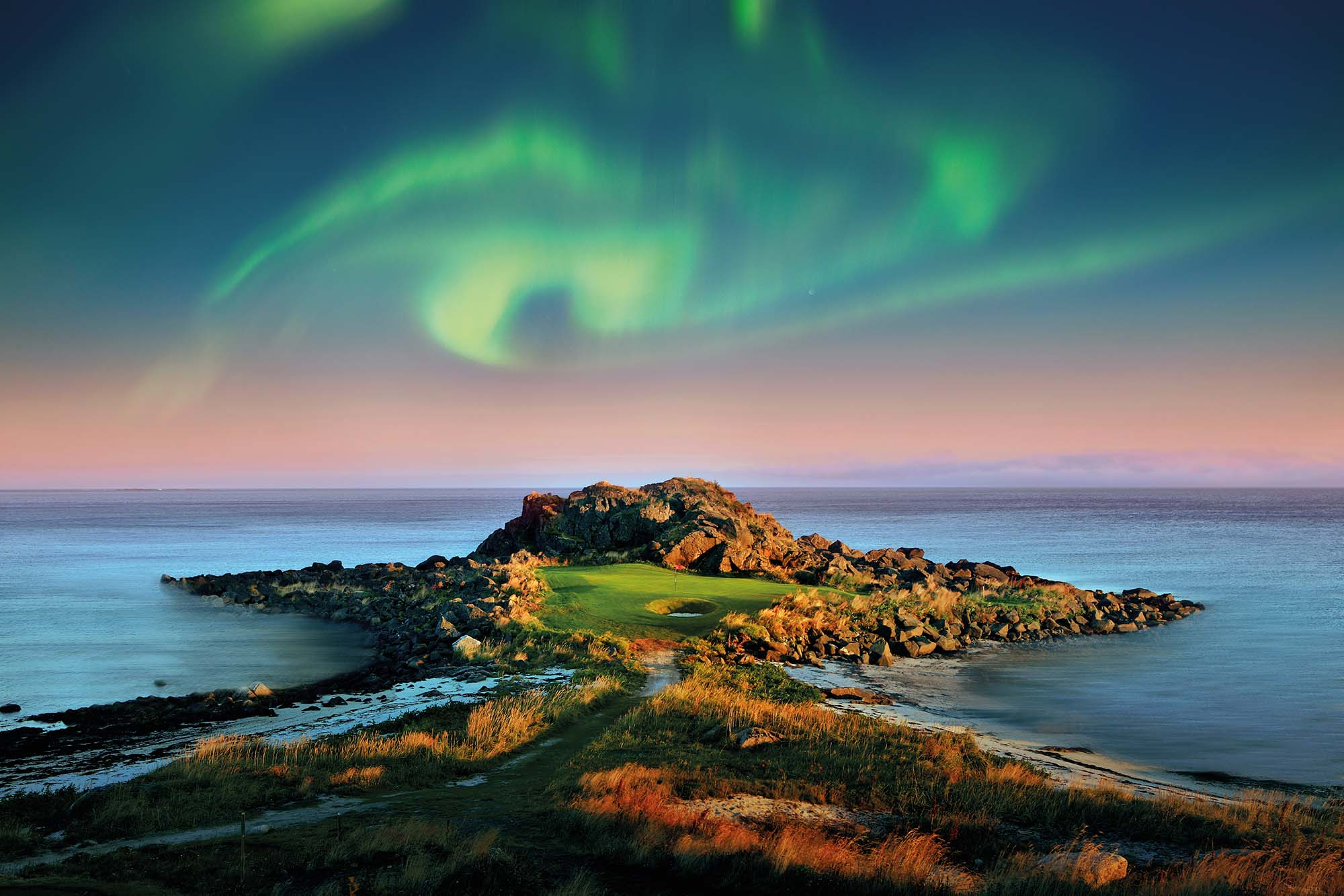Playing Lofoten Under the Northern Lights