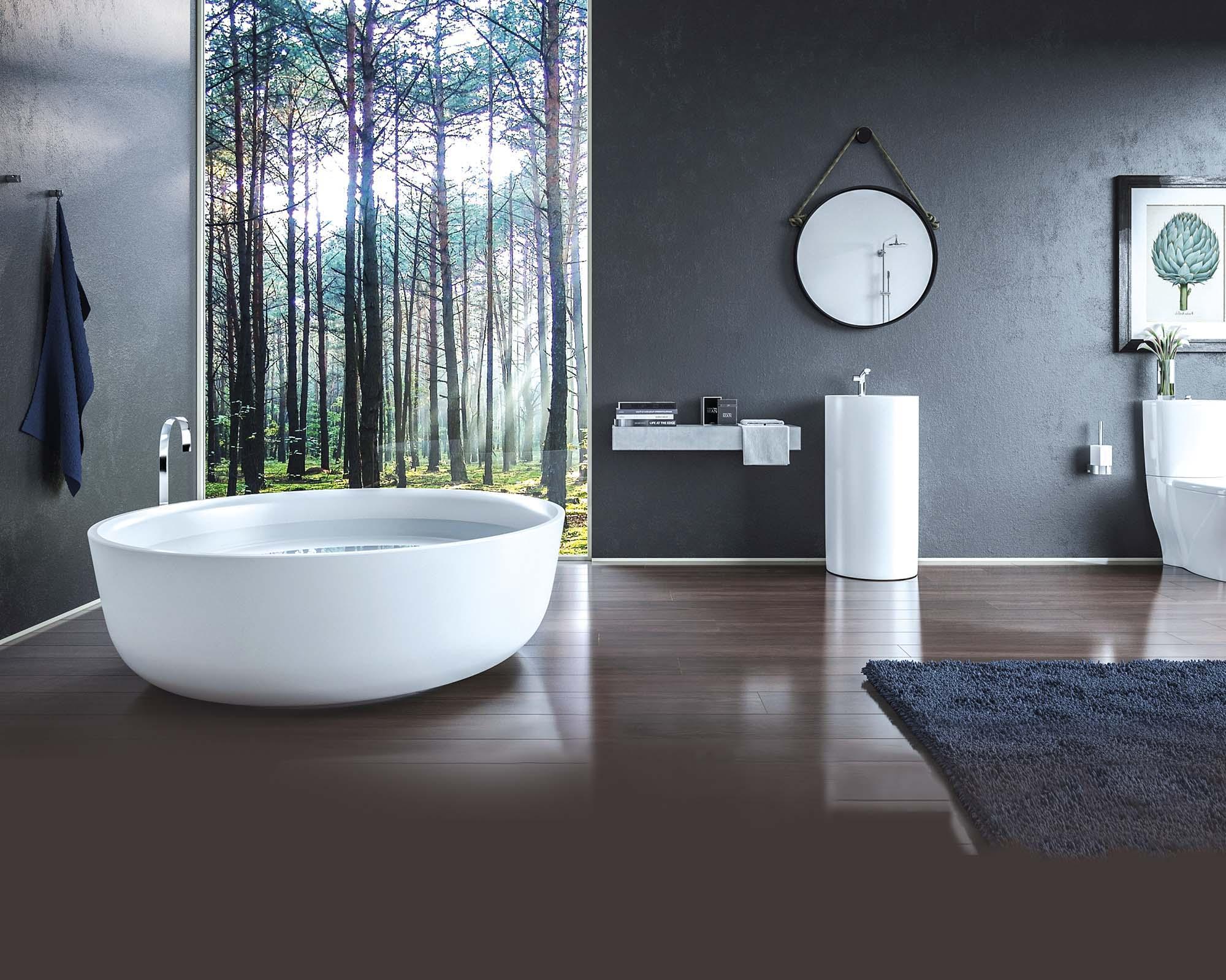 Urban Romance Inspired Bathrooms