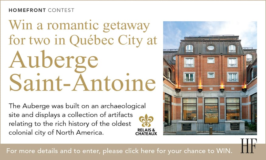 Win a romantic getaway to Québec City