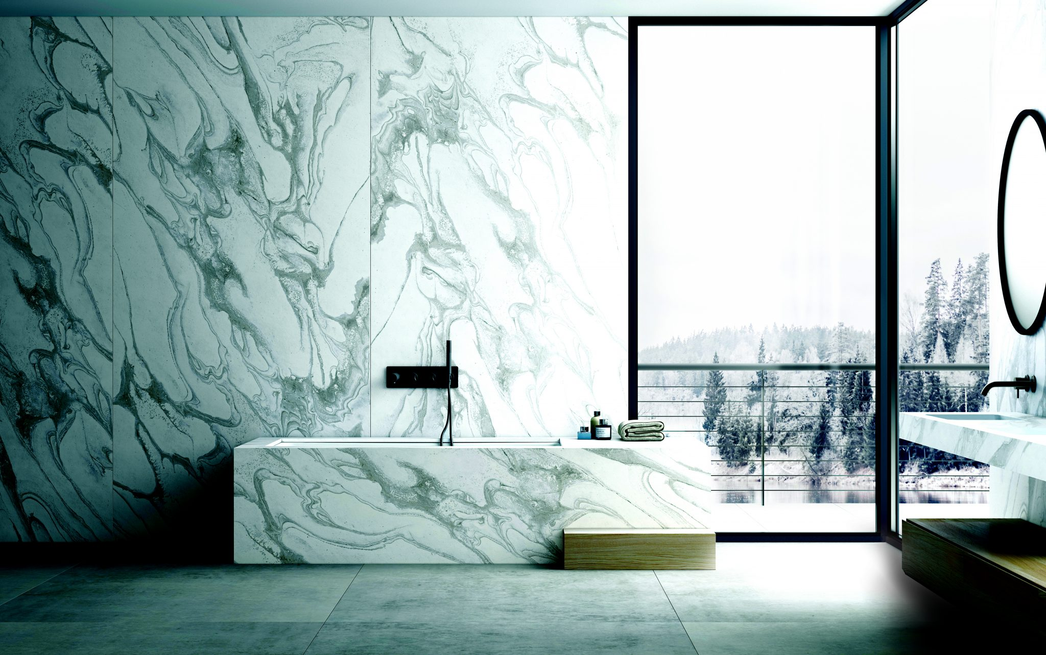 Liquid Assets: Black & white with pops of colour