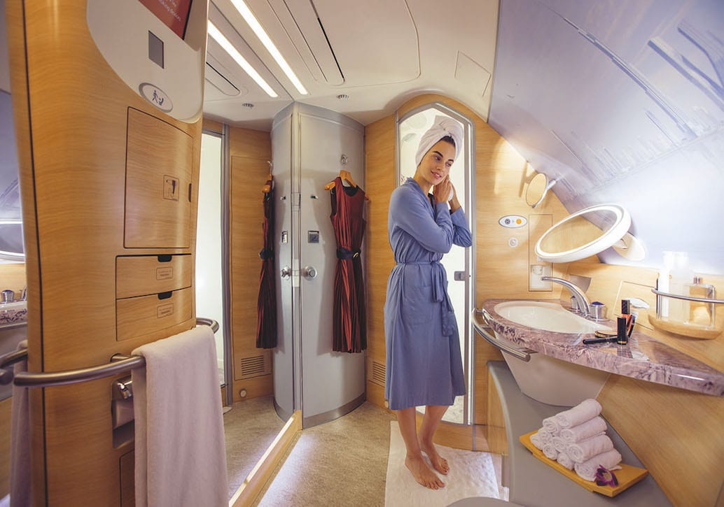 Emirates' Shower Spa