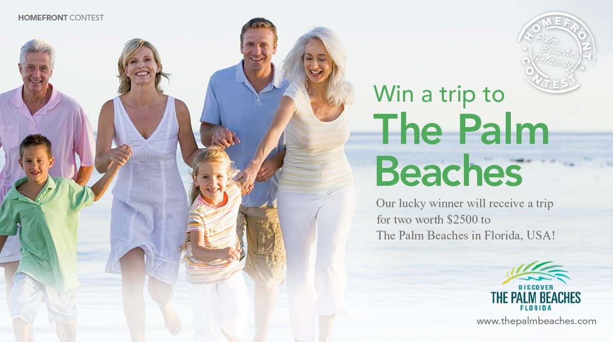 Win a Trip to The Palm Beaches